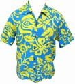 ORIGINAL HAWAIIHEMD - ALOHI - BLUE YELLOW