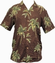 ORIGINAL HAWAIIHEMD - COCONUT TREE - CHOCOLATE BROWN - PARADISE FOUND