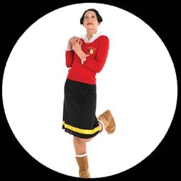 kost me von k 39 n 39 k olivia kost m olive oyl popeye costumes verkleiden karnveval. Black Bedroom Furniture Sets. Home Design Ideas