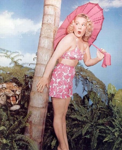 Betty Hutton - Tiger & Sonnenschirm