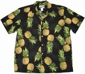 ORIGINAL HAWAIIHEMD - MAUI PINEAPPLE - SCHWARZ - WAIMEA CASUAL