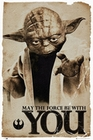 STAR WARS POSTER YODA MAY THE FORCE BE WITH YOU