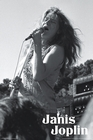 JANIS JOPLIN POSTER BLACK AND WHITE