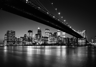 fototapete manhattan skyline schwarz wei brooklyn bridge fototapeten pr sentiert von klang. Black Bedroom Furniture Sets. Home Design Ideas